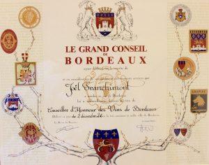 diplome Grand Conseil Bordeaux